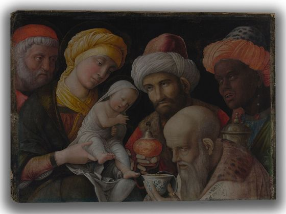 Mantegna, Andrea: Adoration of the Magi. Fine Art Canvas. Sizes: A4/A3/A2/A1 (004016)